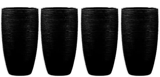 Qualia Artisan Highball Glasses in Black (Set of 4)