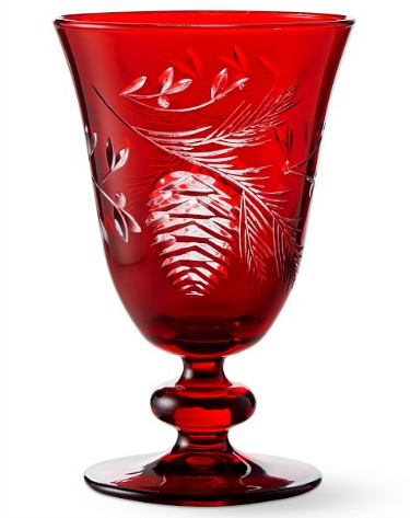 Red Pinecone Cut Goblets