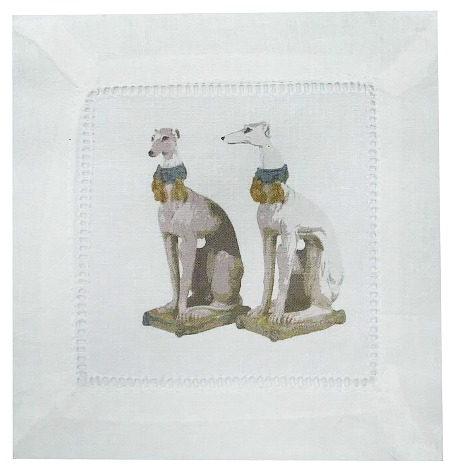 Regal Greyhound Luxe Hemstitch Cocktail 6 Linen Cotton Napkin (Set of 4)