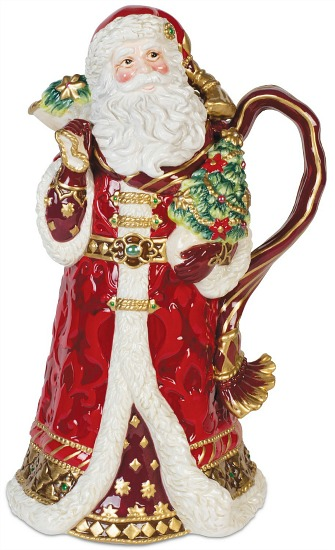 Renaissance Holiday Santa Pitcher