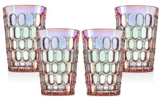 Rex Rainbow 12 oz. Drinking Glass (Set of 4)