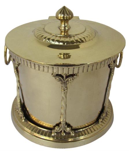 Round Brass Decorative BoxPlanter