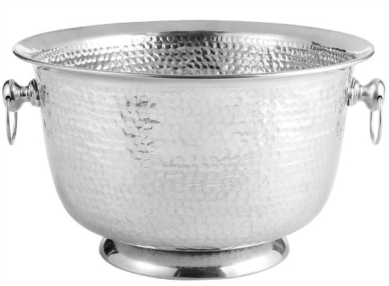 Silver Hammered Beverage Tub