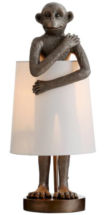 StyleCraft-Ravena-Standing-Antique-Brass-Monkey-Table-Lamp-with-Shade-Around-Body (2)