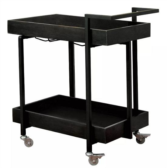 Thornbill 2 Shelf Serving Cart Black