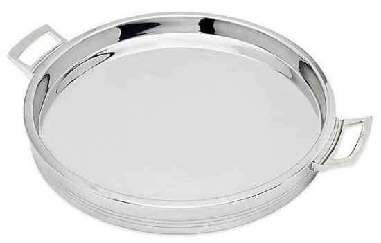 Top Shelf 12.5-Inch Double Wall Round Bar Tray