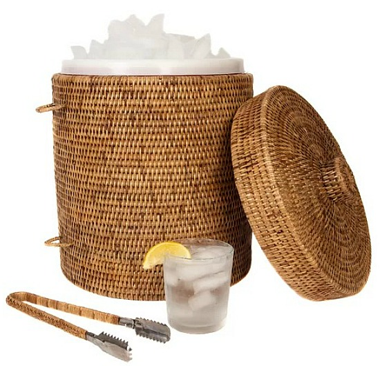 Tudor Rattan Ice Bucket