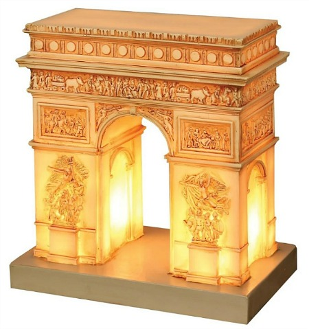 What On Earth Great Places Arc De Triomphe Table Lamp