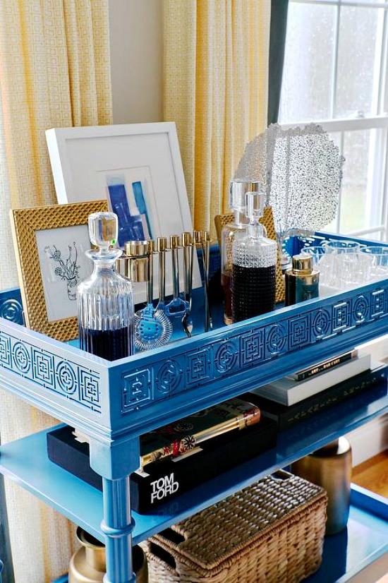 blue-faux-bamboo-bar-cart