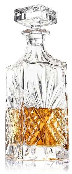Diamond Decanter with Glass Stopper