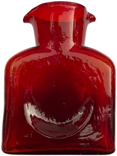 Cobalt Red Blenko Pitcher
