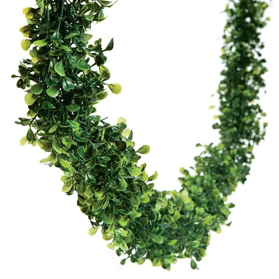 faux boxwood garland