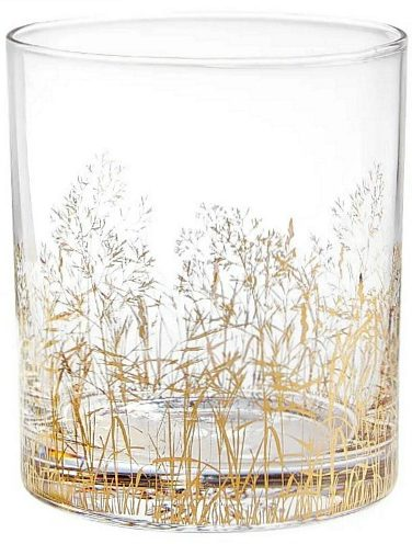 gold trees cocktail glasses