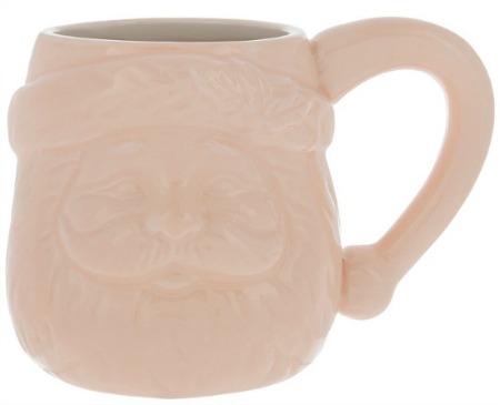pink santa claus face mug 1