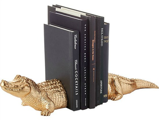 Set of Two Alligator Bookends