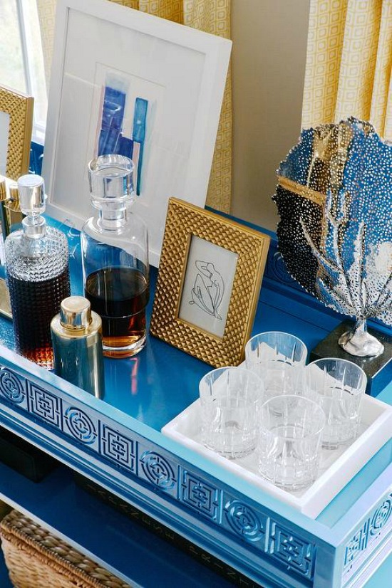 styled-blue-bar-cart-blakely interior design