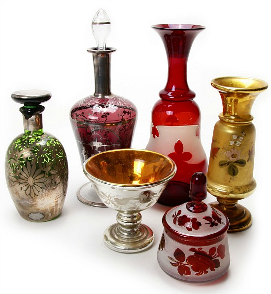 vintage glass vases decanters