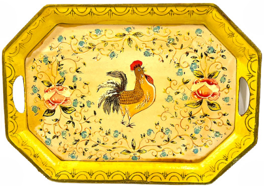 vintage-rooster-tole-tray