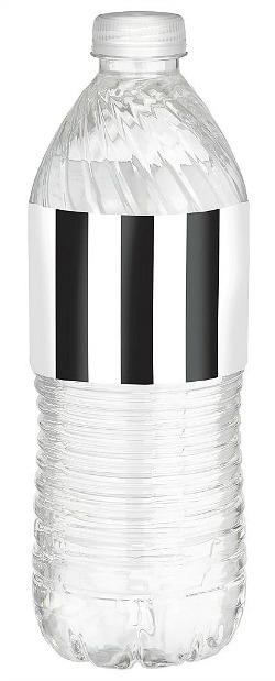 Black & White Striped Bottle Labels 24ct