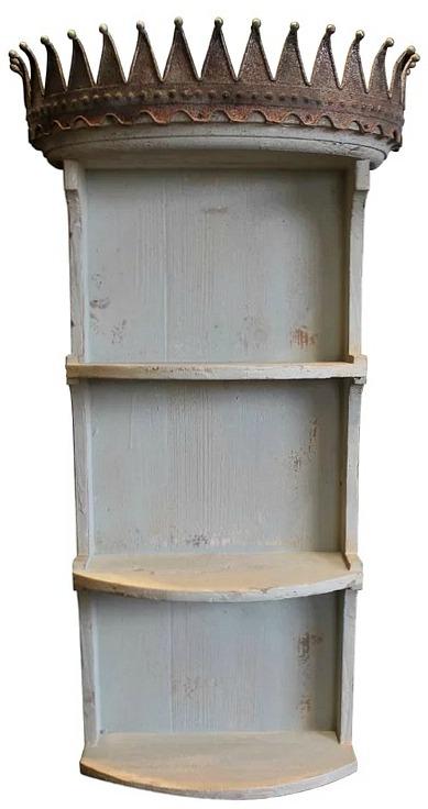 Colten Crown Wall Shelf