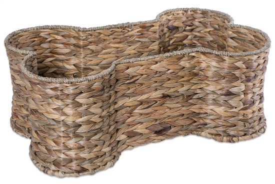 DII Bone Dry Small Hyacinth Bone Shape Storage Basket