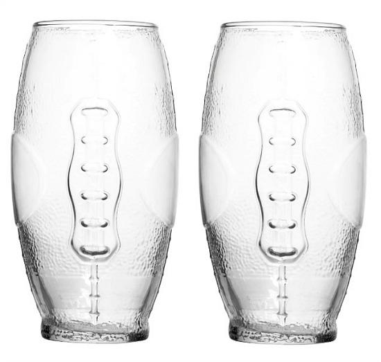 Football-Shaped Glass Tumblers