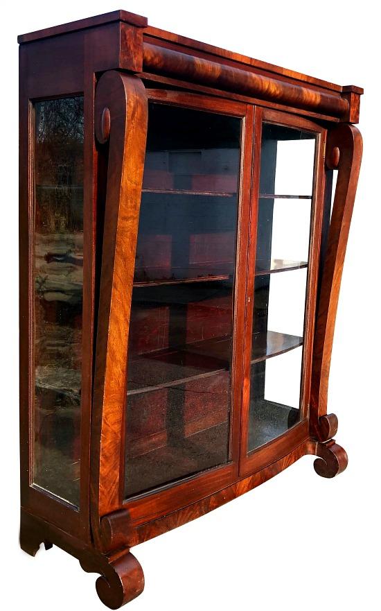 Mahogany-bookcase