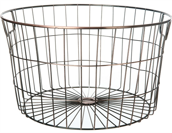 Mainstays Medium Round Wire Copper Basket - 4 Pack