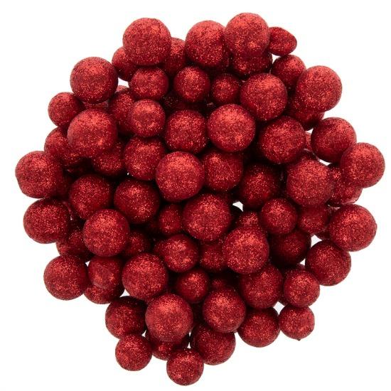Red Glitter Ball Filler