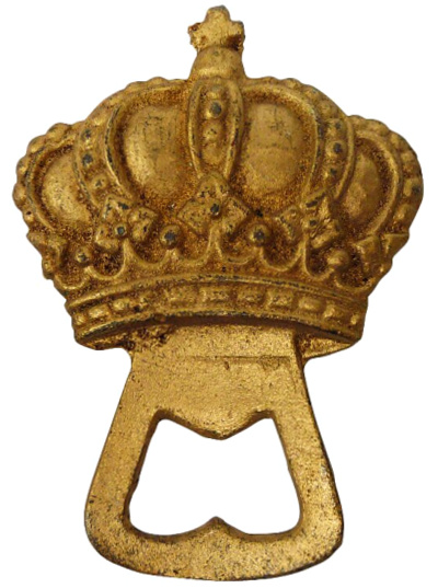 The King's Crown Cast Iron Bottle Opener (Set of 2)
