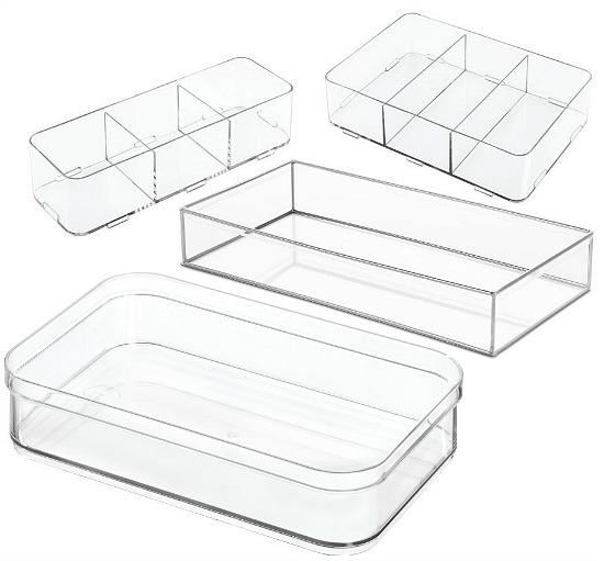 clear drawer storage organizers
