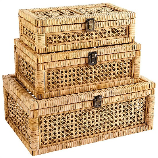 natural caning boxes