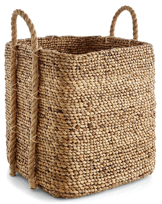Tyler Square Tall Tote Basket with Handles