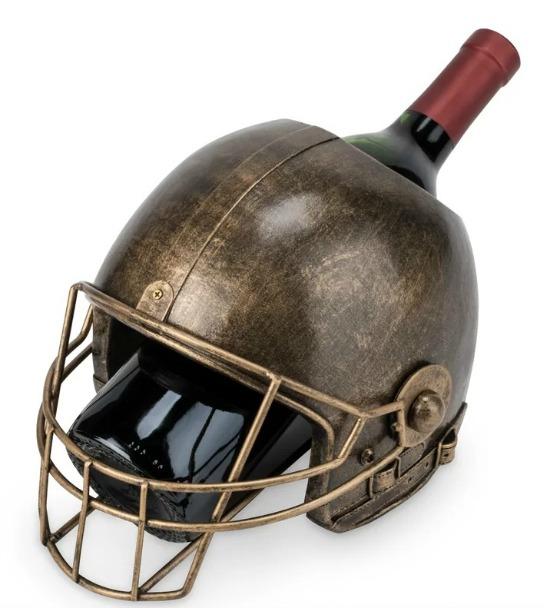 wine bottle carrier football helmet