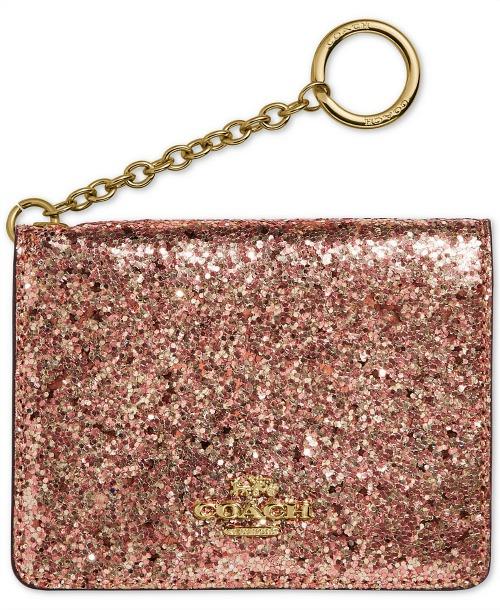 Coach Glitter Key Ring Card Case