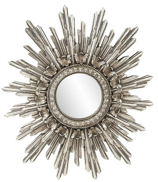 Howard Elliott Chelsea Antique Silver Starburst Mirror
