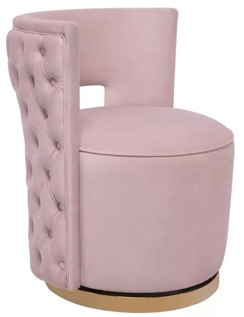 Plumerville Velvet Swivel Barrel Chair