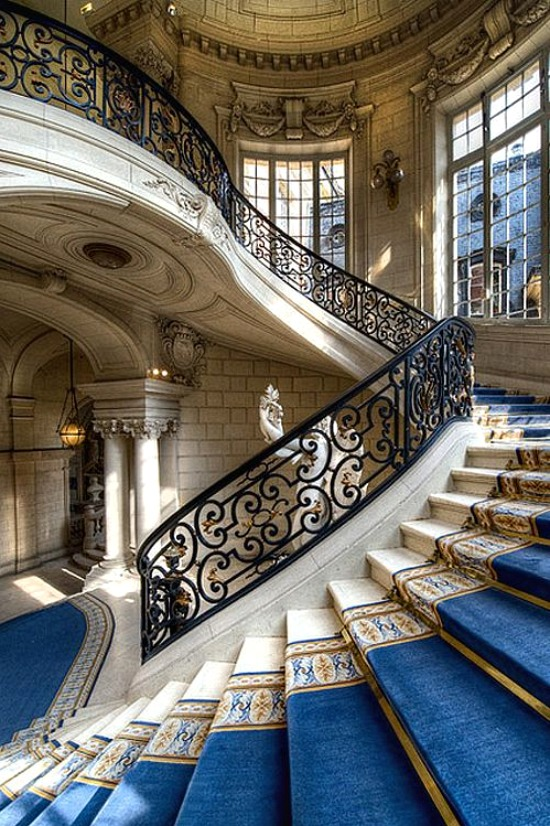 Staircase at Chateau Versailles, Paris, France