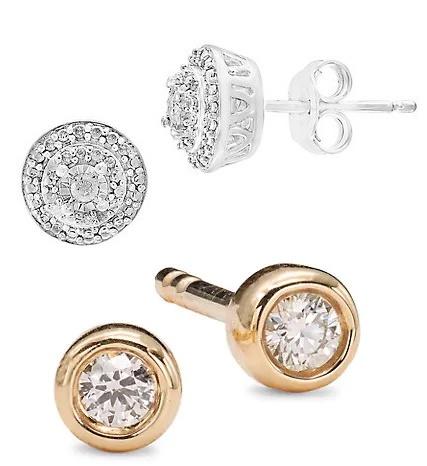 Valentine's Day diamond stud earrings