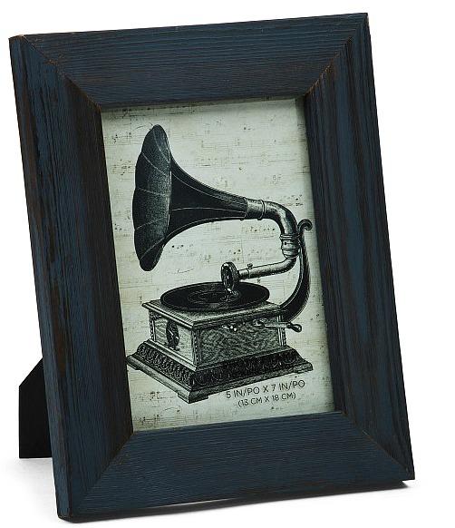 blue-wood-photo-frame