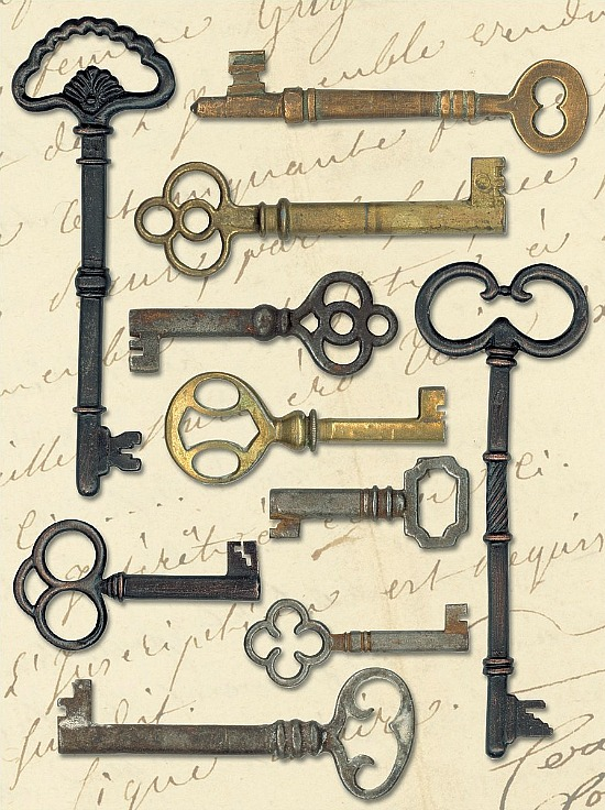 decorative skeleton keys