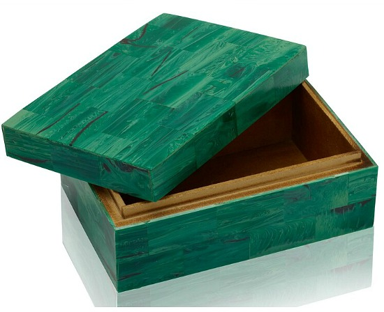Scott Living Luxe Emerald Green Storage Box Table Decor