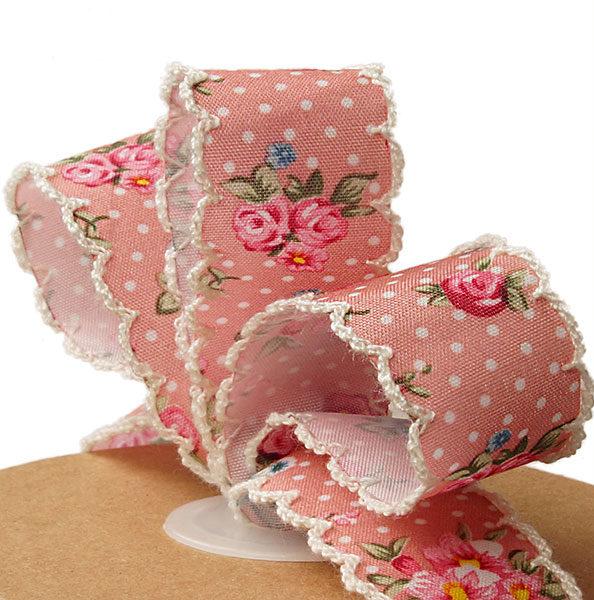 vintage floral ribbon