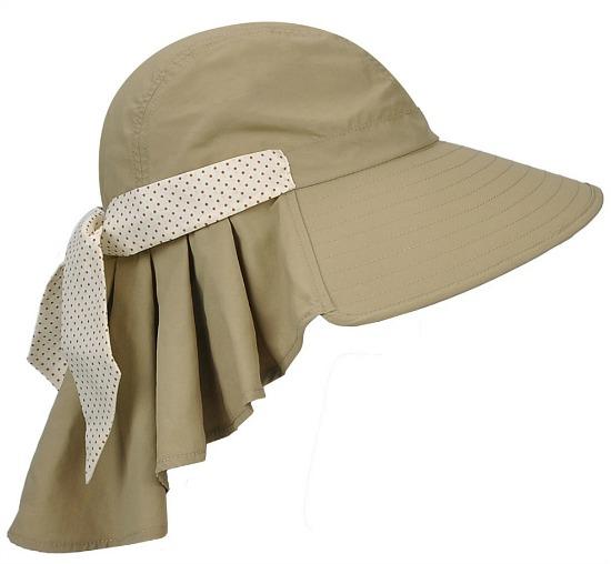 Tirrinia Ladies Wide Brim Sun Flap Cover Cap Adjustable Beach Gardening Hat