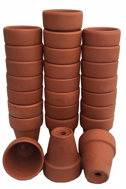 clay pots garden