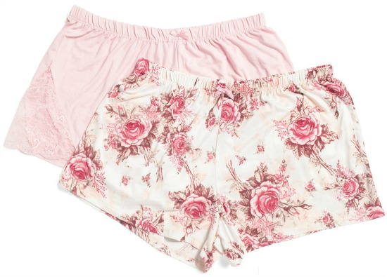 Flora by Flora Nikrooz 2pk Knit Shorts
