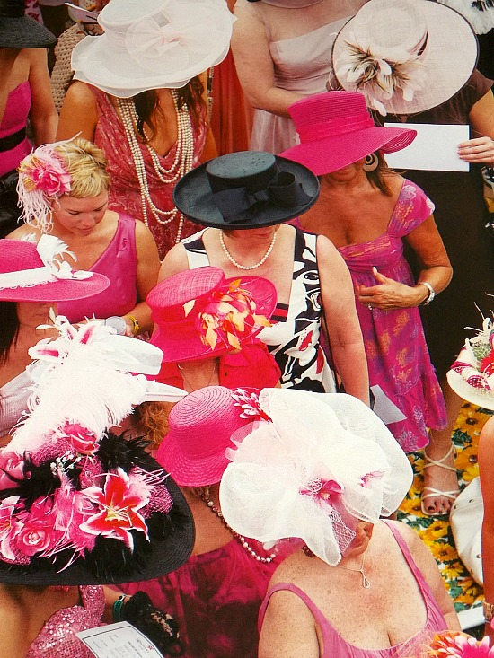 Derby-hats-pink-black