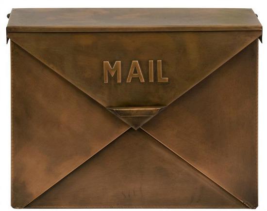 Tauba Copper Finish Mailbox