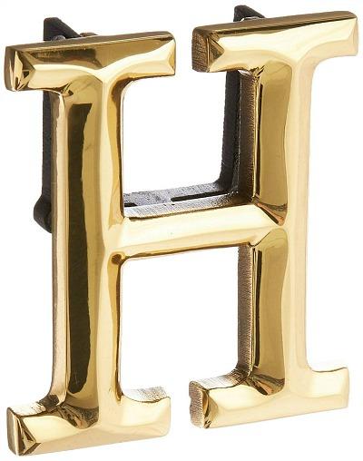 monogram H door knocker