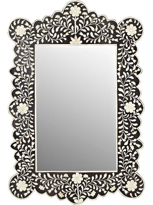 Alayna Bone Inlay Wall Mirror